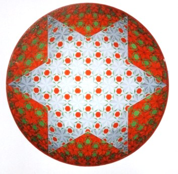 281 - Christmasstar in round shape - Christmascard 1994 [60x60]